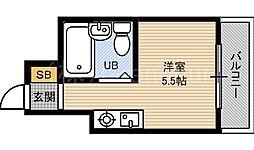 シャトー京橋[1階]の間取り