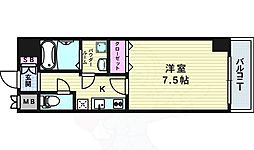 Osaka Metro千日前線 野田阪神駅 徒歩8分の賃貸マンション 10階1Kの間取り