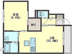奈良県香芝市良福寺の賃貸アパートの間取り