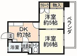 第88東白島ビル[9階]の間取り