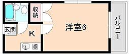 ロイヤル南桜塚[201号室]の間取り