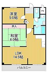 アトレOSマンション[2階]の間取り