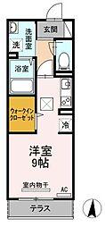 広島県福山市船町の賃貸アパートの間取り