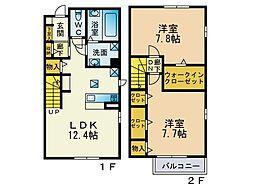 (仮)下作延5丁目新築テラスハウス[101号室]の間取り