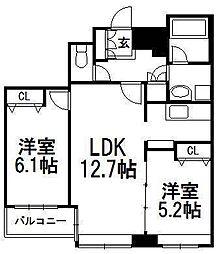 北海道札幌市中央区南三条東3丁目の賃貸マンションの間取り