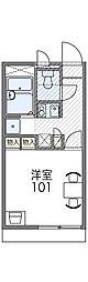 Osaka Metro谷町線 守口駅 徒歩15分の賃貸アパート 2階1Kの間取り