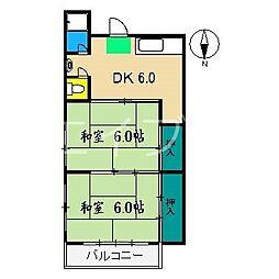 コーポ介良[2階]の間取り