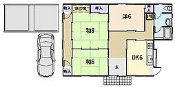 [一戸建] 三重県松阪市日丘町 の賃貸【/】の間取り