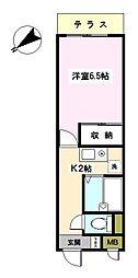 神奈川県横浜市鶴見区下末吉3丁目の賃貸マンションの間取り