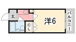 コーポ明日香[2-B号室]の間取り