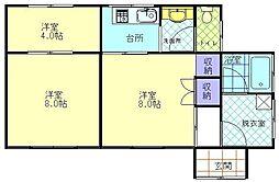 [一戸建] 秋田県横手市松原町 の賃貸【/】の間取り