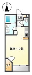 愛知県半田市横川町1の賃貸アパートの間取り