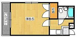 コスモハイツ下鴨[2階]の間取り