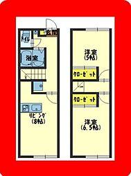 JR片町線(学研都市線) 寝屋川公園駅 徒歩8分の賃貸マンション 1階2DKの間取り