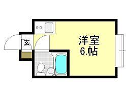 グランドハイツ平野西[2O6号室号室]の間取り
