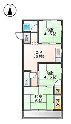 大蔵ビル[4階]の間取り