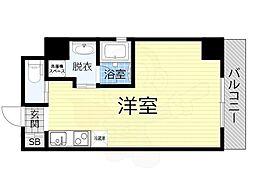 JO-KITA TERRACE 6階ワンルームの間取り