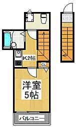仮)大田区新築アパート[2階]の間取り