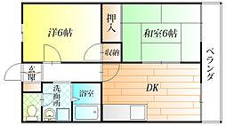 的場ハイツI[1階]の間取り