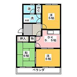 ノーブルパーク134[2階]の間取り