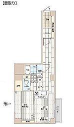 新宿フラワーハイホーム[401号室号室]の間取り