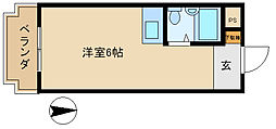 ソルテリアユタカ[1階]の間取り