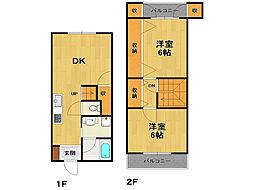 [テラスハウス] 兵庫県伊丹市御願塚5丁目 の賃貸【/】の間取り