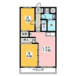 ドルチェ二番館[3階]の間取り