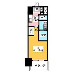 丸東レジデンス大須[12階]の間取り