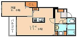 クレメントⅠ[1階]の間取り
