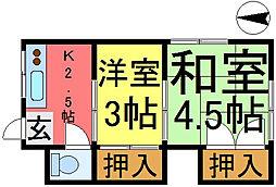 桜荘[205号室]の間取り