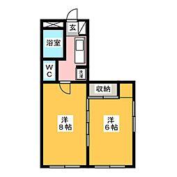 ビルドU3[3階]の間取り