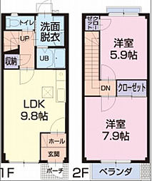 ファミール富士塚B[6号室]の間取り