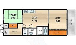 ネオコーポ寺澤2号館 3階2LDKの間取り