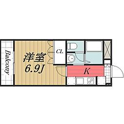 千葉県成田市加良部1丁目の賃貸マンションの間取り