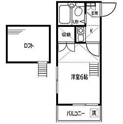 神奈川県横浜市金沢区大道1の賃貸アパートの間取り