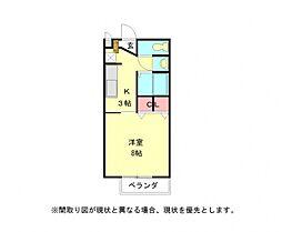 愛知県岩倉市大山寺町岩塚の賃貸アパートの間取り