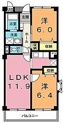 埼玉県上尾市泉台2丁目の賃貸マンションの間取り