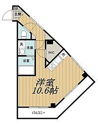 千葉都市モノレール 穴川駅 徒歩6分の賃貸マンション 1階ワンルームの間取り