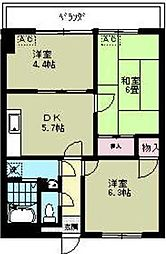 リブステージ横浜[6階]の間取り