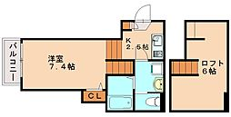 Platina Court HARU[2階]の間取り