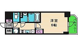 エスリード大阪城クローグ 11階1Kの間取り
