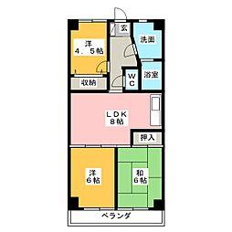 キヨミズキャンパス[3階]の間取り