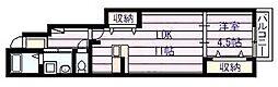ルミエール・K[1階]の間取り
