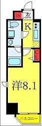 東武東上線 下板橋駅 徒歩8分の賃貸マンション 4階1Kの間取り