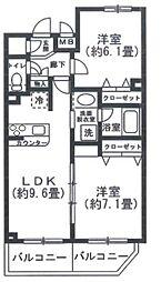 THE FUSION NAKANOFUJIMICHOU[5階]の間取り