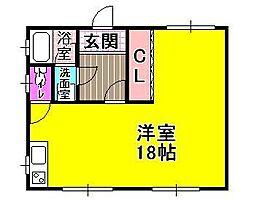 プチ広瀬[2階]の間取り