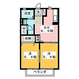 アルジャン 神田川II[2階]の間取り