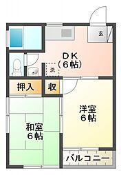 KSコーポ[2階]の間取り