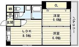 高井田青山ビル[5階]の間取り